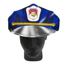 Police Cap W/Elastic Band Full Color