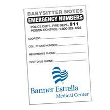 Babysitter Notes Full Color