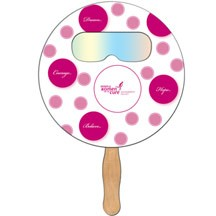 Round Hand Fan with Fireworks Film
