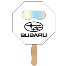Stop Sign Hand Fan with Fireworks Film