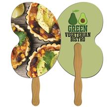 Bean Hand Fan Full Color (2 Sides)