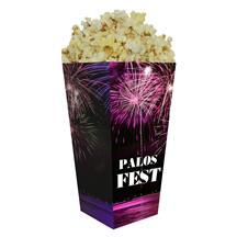Medium Straight Edge Scoop Popcorn Box Full Color 46 oz