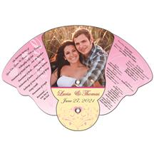 Four Part Expandable Bell Hand Fan Full Color